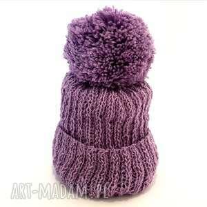 Alczapki handmade wełniany komplet dziecięcy czapka szalik (alpaka)