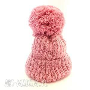 atrakcyjne ubranka czapka handmade wełniany komplet dziecięcy