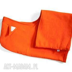hand-made ubranka lis komin z kapturem dla dziecka