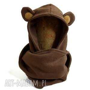 ubranka misio komin z kapturem dla dziecka - miś