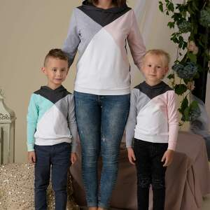 ubranka trzykolory komplet bluz dla mamy i dziecka 3