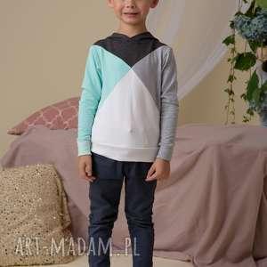bluzy turkusowe komplet bluz dla mamy i dziecka