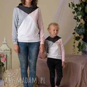 trzy-kolory ubranka komplet bluz dla mamy i dziecka 3