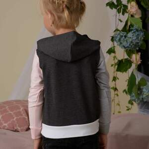 niesztampowe ubranka trzy-kolory komplet bluz dla mamy i dziecka 3