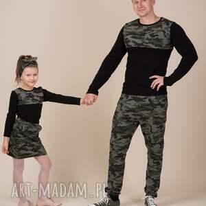 Komplet bluzek moro dla taty i syna aukcja specjalna bluzki
