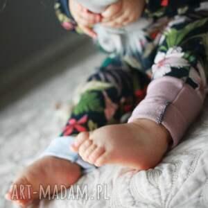 Komplet dla dziewczynki 74 -98 cm (spodnie bluza turban) - granatowy zestaw dres