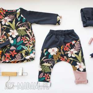 granatowy-komplet ubranka komplet dla dziewczynki 104 -128