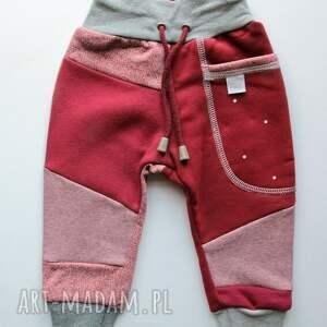 czerwone ubranka zestaw komplet patch pants - spodnie dla