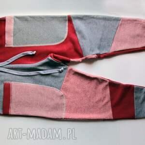 handmade ubranka zestaw komplet patch pants - spodnie dla