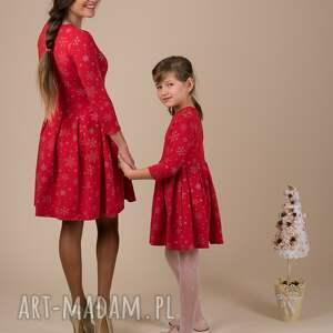 ubranka mamaicórka komplet śnieżynki czerwone !