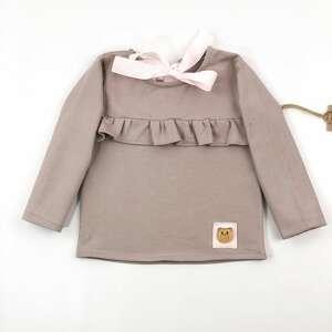 beżowe ubranka dres komplet spodnie buggy i bluza