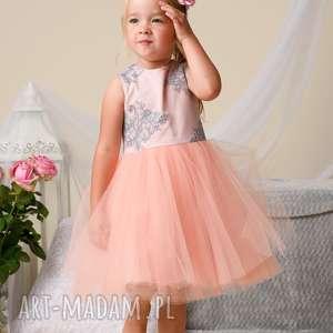 5385a6cd05 pomarańczowe tiulowe sukienki komplet sukienek alice dla mamy