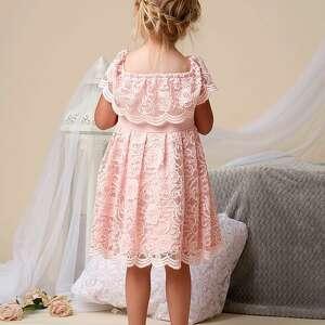 koronkowe różowe komplet sukienek gabriela dla mamy i córki