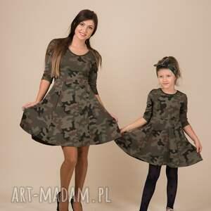 Mrugala Komplet sukienek MORO dla mamy i córki khaki