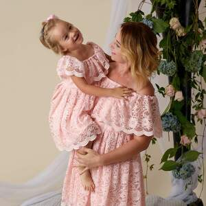 nietypowe koronkowe komplet sukienek gabriela dla mamy