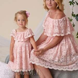 Mrugala Komplet sukienek Gabriela dla mamy i córki - kompletsukienek koronkowe sukienki