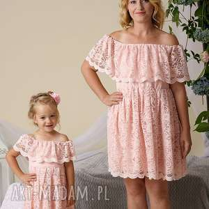 niebieskie sukienki mama córka komplet sukienek gabriela dla mamy