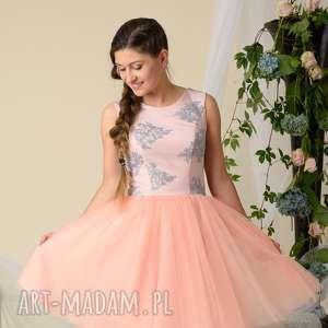frapujące ubranka tiulowe-sukienki komplet sukienek alice dla mamy i
