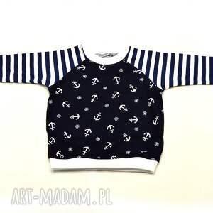 urokliwe ubranka ubrania-dla-chłopca kotwice paski marynarska bluzka
