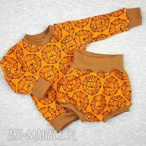 bluza unisex pomarańczowe król lew w natarciu -