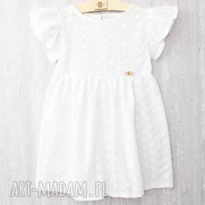 białe haftowana letnia sukienka z haftowanej