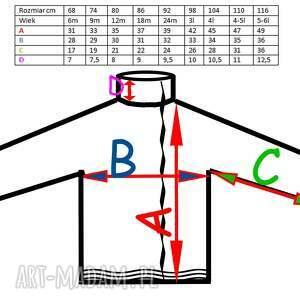 niepowtarzalne ubranka asymetryczna liście dwustronna