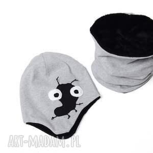 ubranka ciepły miśkowy komin czarny