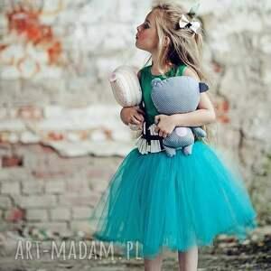 balerina ubranka morskozielona sukienka tiulowa tutu
