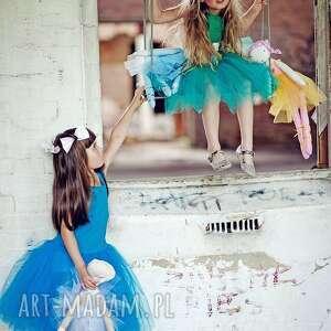unikatowe ubranka balerina morskozielona sukienka tiulowa tutu