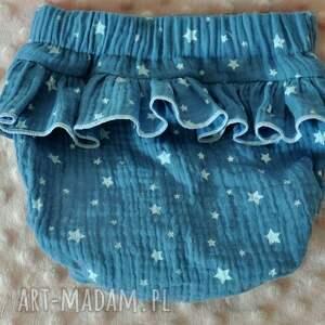 niebieskie ubranka muślinowa komplet w gwiazdki!