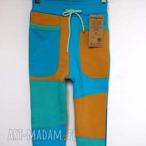 turkusowe ubranka recykling only one no 008 - spodnie dziecięce