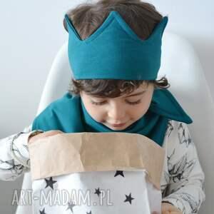 unikalne ubranka opaska korona turkusowa