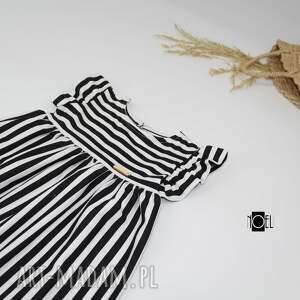 nietypowe ubranka paski biało czarne