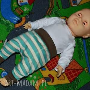 ciekawe spodnie paski legginsy - baggy