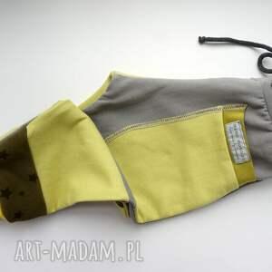eco ubranka żółte patch pants spodnie 74 - 98 cm