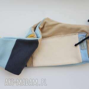 wyjątkowe ubranka dres patch pants spodnie 74 - 98 cm krem