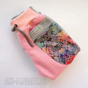 różowe ubranka dres-dla-dziwczynki patch pants spodnie dziecięce róż