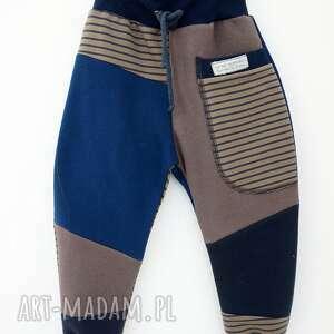 ręcznie wykonane ubranka dres patch pants spodnie 74 - 98 cm