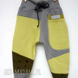 szare ubranka dresowe patch pants spodnie 74 - 98 cm