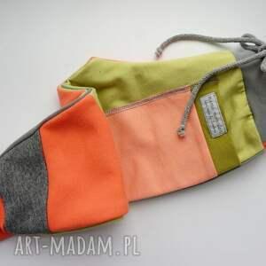 eco ubranka pomarańczowe patch pants spodnie 104 - 152 cm