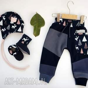 nietypowe ubranka ciepłe patch pants spodnie 74 - 98 cm