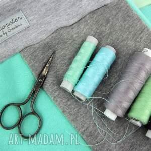 turkusowe ubranka prezent patch pants - eco dresik dziecięcy