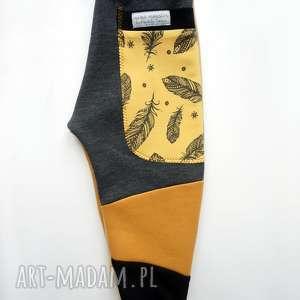 awangardowe spodenki dziecięce patch pants spodnie 110 - 152 cm