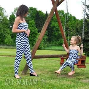 Piękny komplet kombinezonów mama i córka sportowe