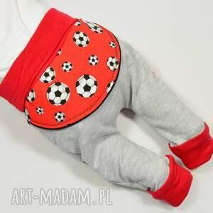 spodnie czerwone piłki legginsy - baggy