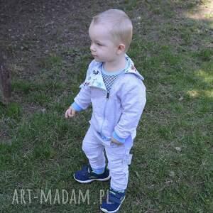 długie spodnie niebieskie piraci dla chłopca