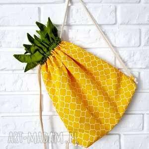 efektowne plecak worek ananas