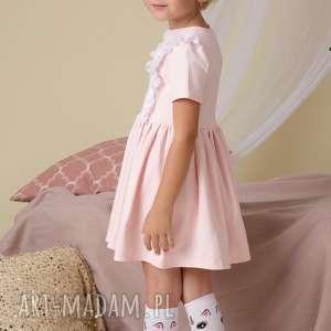 białe ubranka jednorożec podkolanówki dziecięce