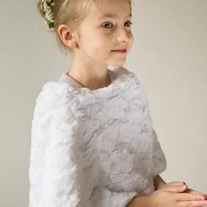 frapujące ubranka komunia ponczo komunijne dla dziewczynki