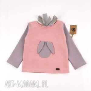 różowe ubranka komplet pudrowy królik spodnie